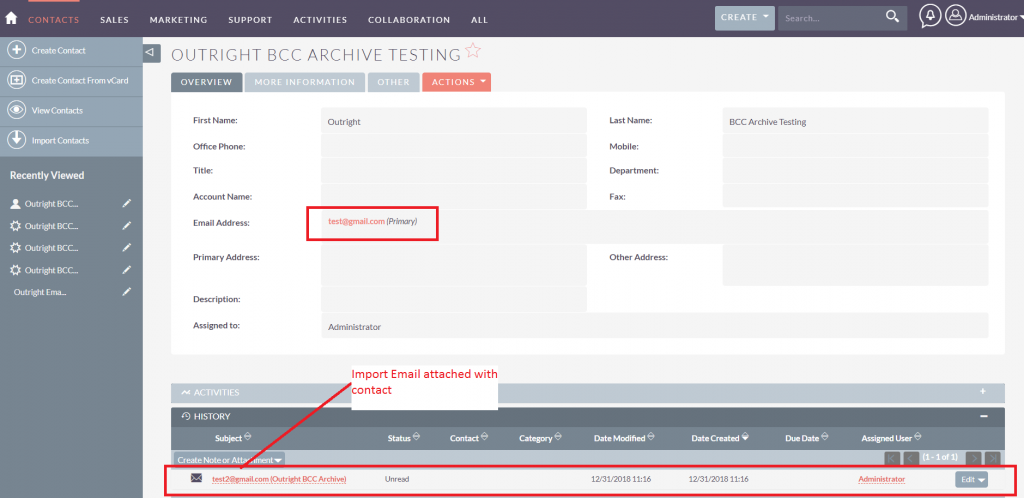 BCC Archive Testing