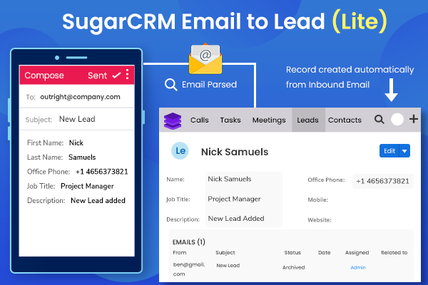 SugarCRM Email to Lead (Lite)