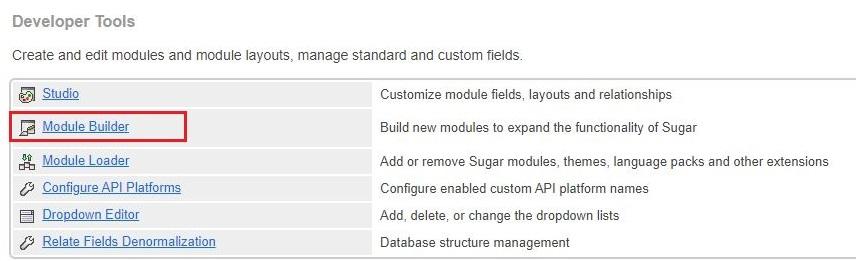 sugarcrm module