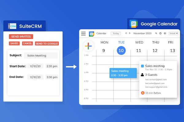 SuiteCRM Google Calendar Integration (Lite)