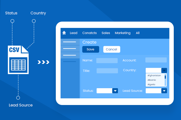 Smart Dropdown Importer from CSV & XLS