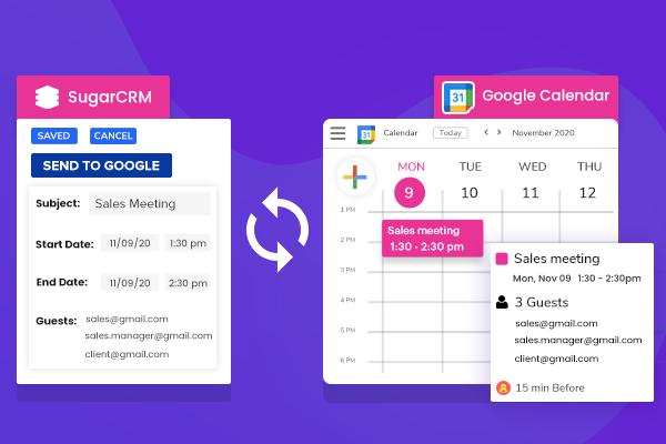 SugarCRM Google Calendar Integration (Lite)